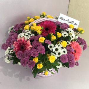 Корзина цветов 04