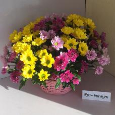 Корзина цветов 08