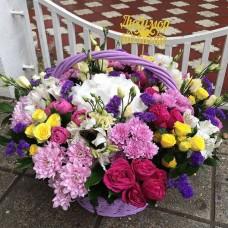 Корзина цветов 10