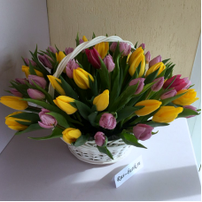 Корзина цветов 13