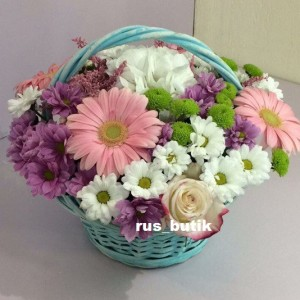 Корзина цветов 02