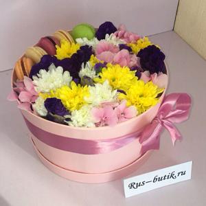 Макаруны с цветами 09