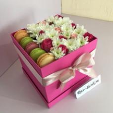 Макаруны с цветами 11