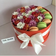 Макаруны с цветами 04
