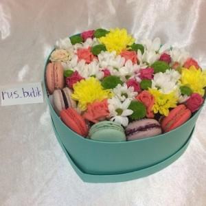 Макаруны с цветами 08